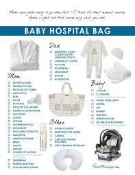 Baby Shower Needs List - bags glamorous baby hospital bag checklist see more best ideas