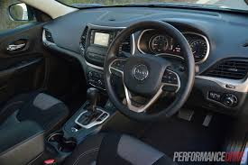 Jeep Cherokee Sport Interior 2014 Jeep Cherokee Sport Review Video Performancedrive