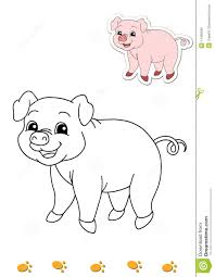 coloring book of animals 5 pig stock photo image 14450560