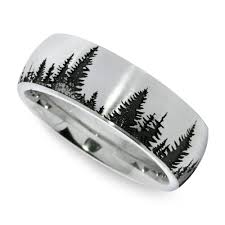 mens wedding rings nz laser carved pine tree pattern men s wedding ring in cobalt
