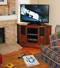 Freestanding Example  TV Stand For The Corner Wall - Corner cabinets for plasma tv