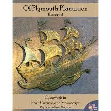 plymouth plantation book of plymouth plantation excerpt copywork writebonnierose