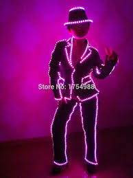 Tron Halloween Costume Light Up by Online Buy Wholesale Light Suit Dance From China Light Suit Dance
