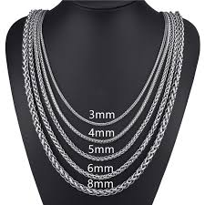 mens necklace chains length images Elfasio customized any length 3 4 5 6 8mm wide stainless steel jpg