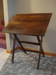Foldable Drafting Table Folding Antique Wood Anco Bilt Drawing Drafting Table Antique