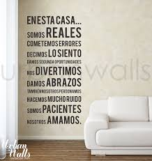 vinyl wall sticker decal spanish in this house we do zoom