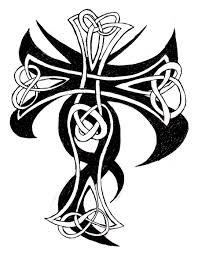 cross celtic tribal mix by b rox u on deviantart