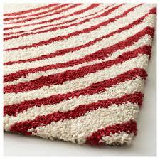 eivor cirkel rug high pile white red 200x200 cm ikea
