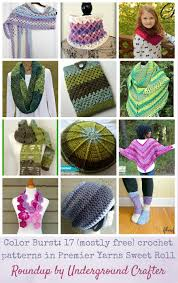 color burst roundup 17 mostly free crochet patterns in premier