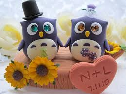 owl cake toppers wedding cake toppers aislinn events