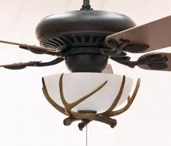 rustic ceiling fans with lights and remote unique antler rustic ceiling fans with lights home interiors for