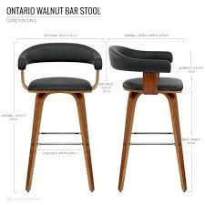 chaise haute design cuisine tabouret cuisine cuir chaise de bar faux cuir bois ontario 125e