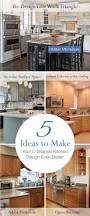 Kitchen Triangle Design With Island by Best 25 L Shaped Kitchen Designs Ideas On Pinterest L Shaped