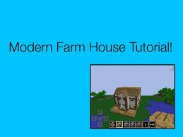modern farm house tutorial minecraft pocket edition youtube