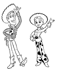 coloring appealing woody coloring jessie toy