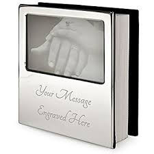 Photo Albums For 4x6 Pictures Personalised Silver Plated Photo Album Holds 100 4x6 Inch Photos