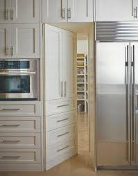 door to pantry hidden in cabinetry smart home pinterest