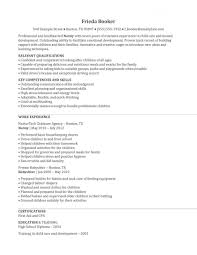 Nanny Resume Templates Free Nanny Job On Resume Eliolera Com