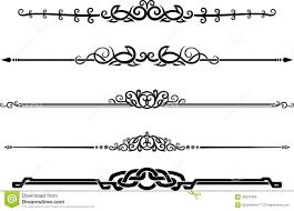 ornamental decor page rule set stock illustration image 40537950