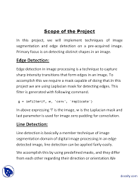 edge detection digital image processing project report