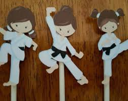 karate cake topper karate cupcake toppers karate kong fu krav magav marshall arts