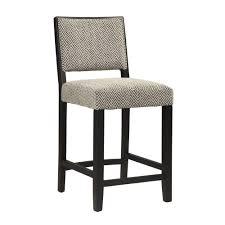 linon home decor zoe 24 in black white cushioned bar stool
