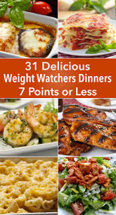 cuisine ww 31 delicious weight watchers dinners for 7 points or less