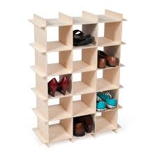 Closetmaid 15 Cubby Shoe Organizer White Modern Wood Shoe Storage Cubby Baltic Birch Birch And Shelves
