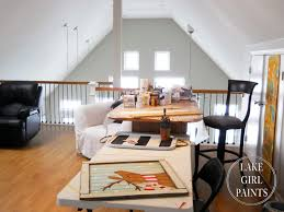 gorgeous home art studio interior in loft with veneer workstation