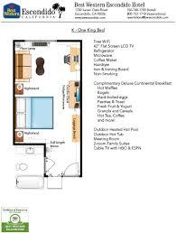 Hotel Guest Room Floor Plans by Guestroom Floorplans Of Best Western Escondido Hotel