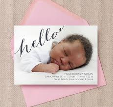 calligraphy photo birth announcement card from 0 75 each
