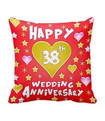 38th wedding anniversary buy tiedribbons 38th wedding anniversary gift printed cushion 12