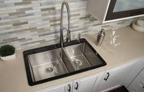 Designer Kitchen Sinks Crosstown Stainless Steel Glass Top Kitchen Sink Contemporary
