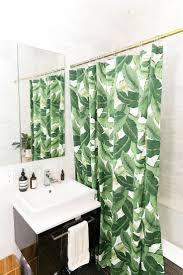 Botanical Shower Curtains Banana Leaf Shower Curtain Tropical Best Green Curtains Ideas On