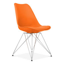 Modern Furniture Chair Png Orange Dining Chair With Eiffel Metal Legs Modern Chairs Cult Uk