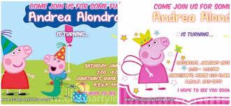 peppa pig birthday invitations free downloads printable templates