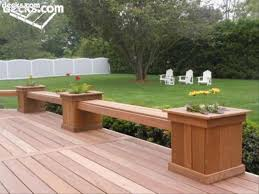 Decks With Benches Built In Building Built In Deck Benches Decks Planter Box Bench Planter Box