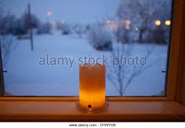 candle in window stock photos candle in window stock images alamy