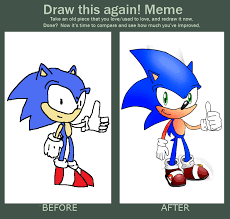 Sonic The Hedgehog Meme - draw this again meme sonic the hedgehog by xxthathedgehogxx on