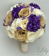 silk flowers for wedding 17 package silk flower wedding bridal bouquet sets rustic