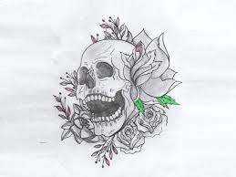 roses moon skull heart tattoo designs photos pictures and