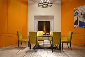orange furniture for bold and cheerful interior decors