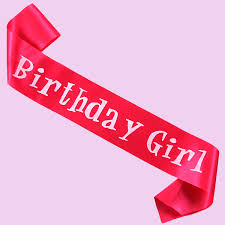 birthday ribbon 100pcs wholesale event party supplies satin ribbon birthday girl