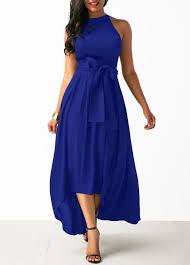 blue dress royal blue cardigan and asymmetric hem belted dress modlily