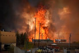 Canada Wildfire Smoke Usa by Fort Mcmurray Fires Security Camera Captures Inferno Ripping