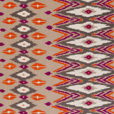 orange kilim upholstery fabric purple orange embroidered