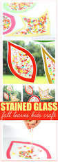 stained glass fall leaf craft with pebbles cereal raising whasians