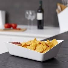 blum cuisine black blum forminimal chip and dip bowl white homeware thehut com