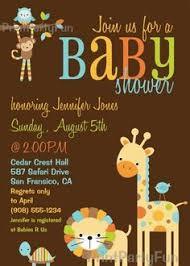 baby animal baby shower invitation jungle ideas