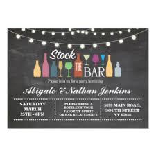 stock the bar invitations announcements zazzle